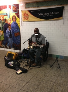 Delta Dave is keeping the blues alive #nycpeople #subway #southernculture #blues
