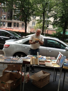 Selling Books on Broadway.