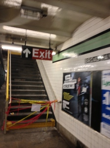 If you want to exit the subway, don't go this way.